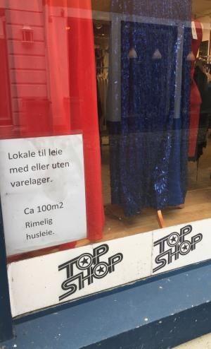 Butikken Balenza må leie ut sitt store lokale etter 20 år i Gågaten. Foto: Amalie Espedal Vossgård