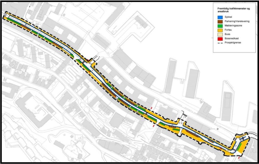 Planforslag. Kilde: Etat for plan og geodata fra notat datert 11.12.2014.