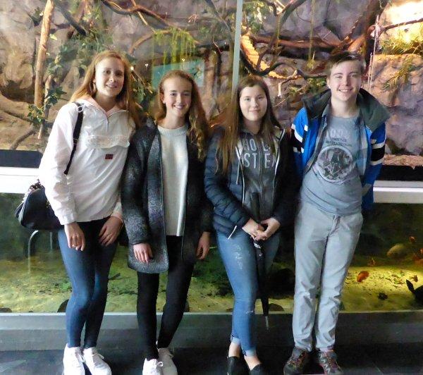 Sara, Martine, Jeanethe og Fredrik fra Skranevatnet skole. Foto: Eva Johansen