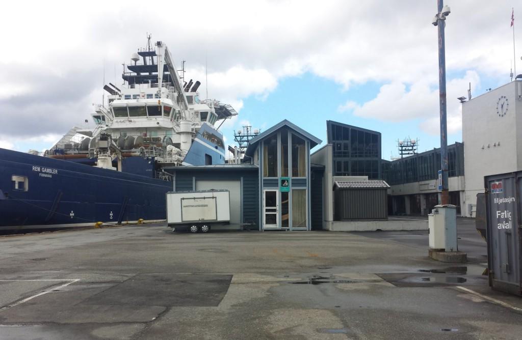 Her på Skolten ble det første landstrømanlegget for offshorefartøy åpent onsdag. Arkivfoto: Eva Johansen