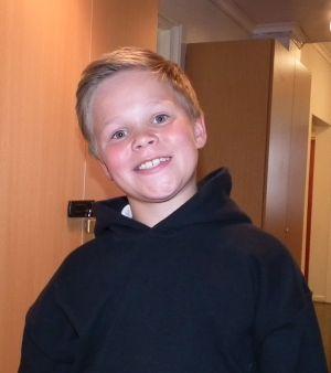 Torbjørn Krogstad Hystad (11) har spilt sjakk i flere år allerede. Foto: Eva Johansen
