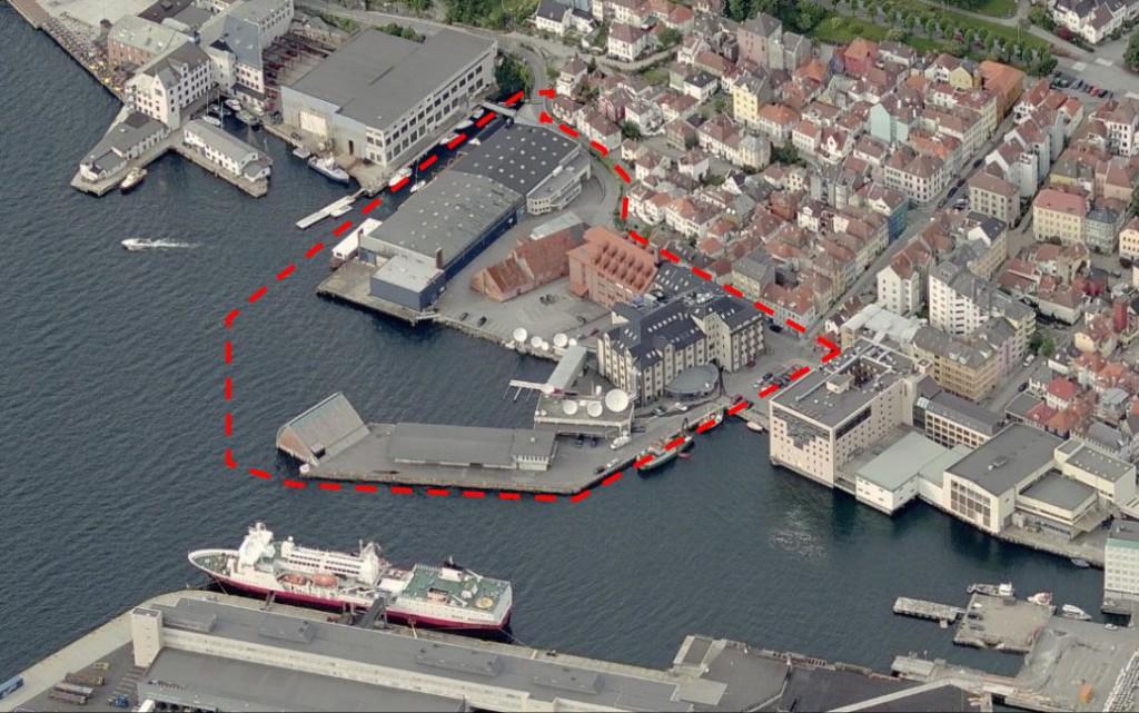 Dette området omfattes av planprogrammet. Foto: Fra planprogrammet - kilde Gulesider.no