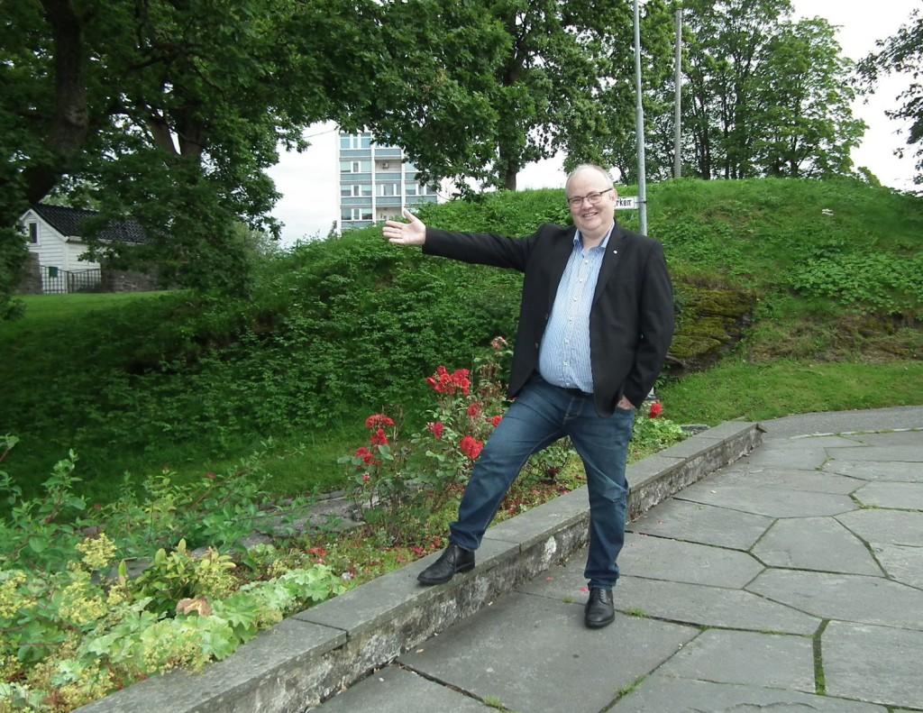 Ove Sverre Bjørdal, Senterpartiets listetopp liker Nordnesparken. Foto: Eva Johansen