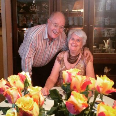 Her er Anne-Margrethe Lorentzen og ektemannen Arne Øystein Lorentzen. Foto: Privat
