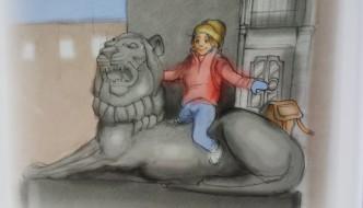 May sitter på løveryggenog drømmer og fantaserer