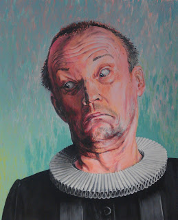 """""""Posisjon"""" , selvportrett av Bjørn Hølbakken, laget til utstillingen It's all about love me""""."""