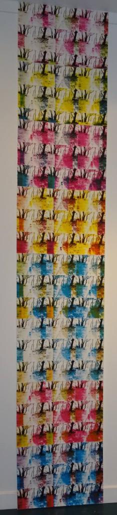 """""""Today"""", silketrykk av Katy Penny. Foto: Eva Johansen"""