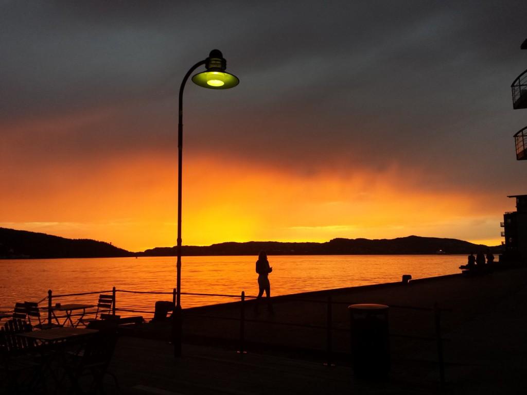 Dette synet møtte tilhørerne som kom ut fra valgmøte om kultur på Verftet i kveld. Foto: Eva Johansen