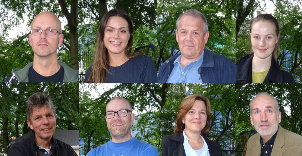 Hva stemte du og hvorfor var spørsmålet disse fikk på vei ut fra valglokalet. Foto: Eva Johansen