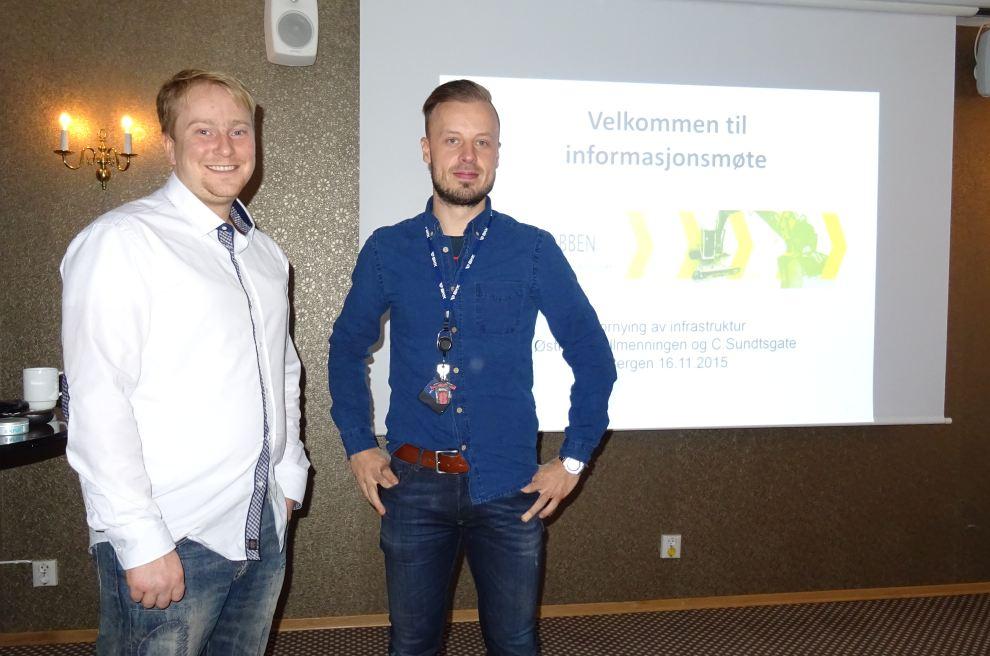 Ørjan Mjøs og Daniel Frantzen informerte fra Graveklubbens arbeid. Foto: Eva Johansen