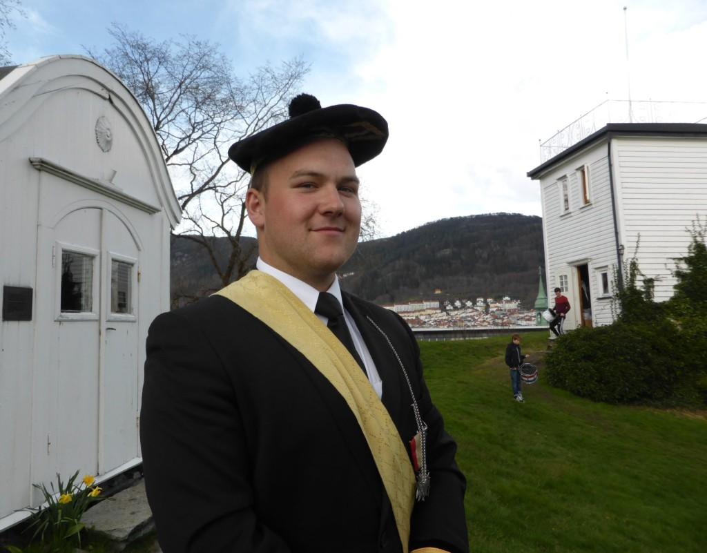 Richards Knutsen på Fredriksberg fort i vår. Foto: Eva Johansen