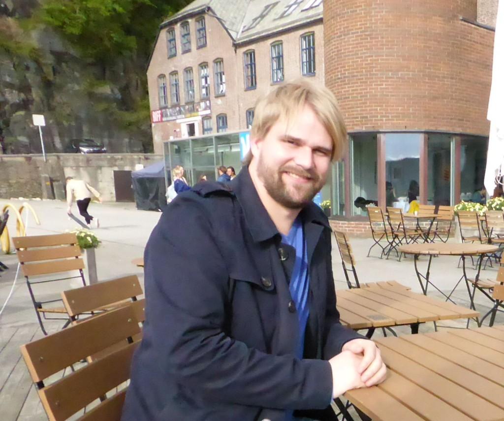 Roger Valhammer på Verftet i høst. Foto: Eva Johansen