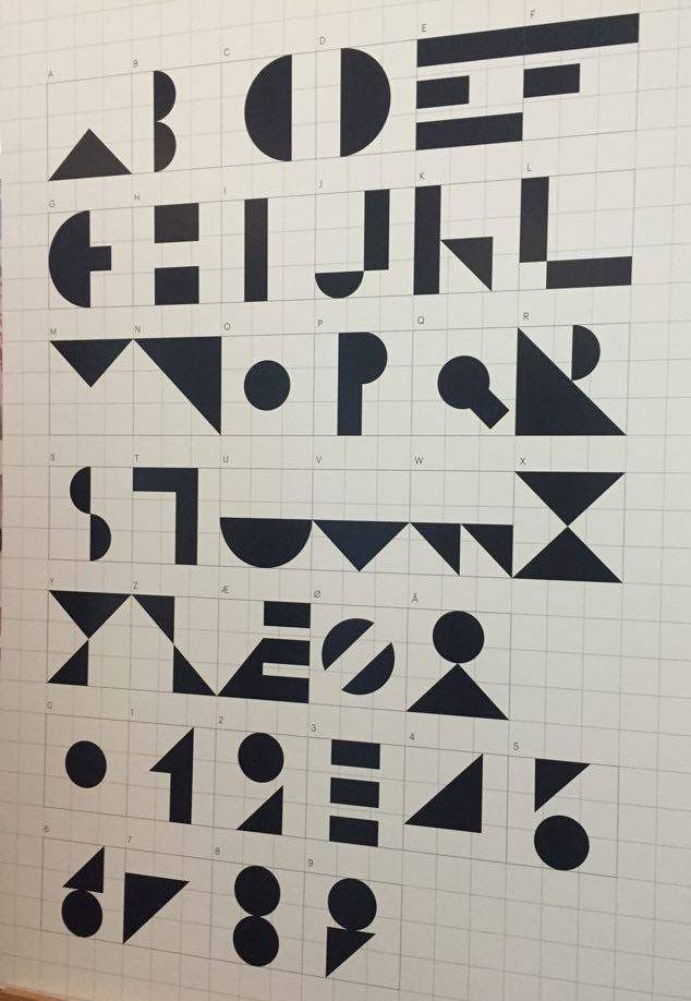 Alfabet: Her er hele alfabetet i det nye skriftsspråket.