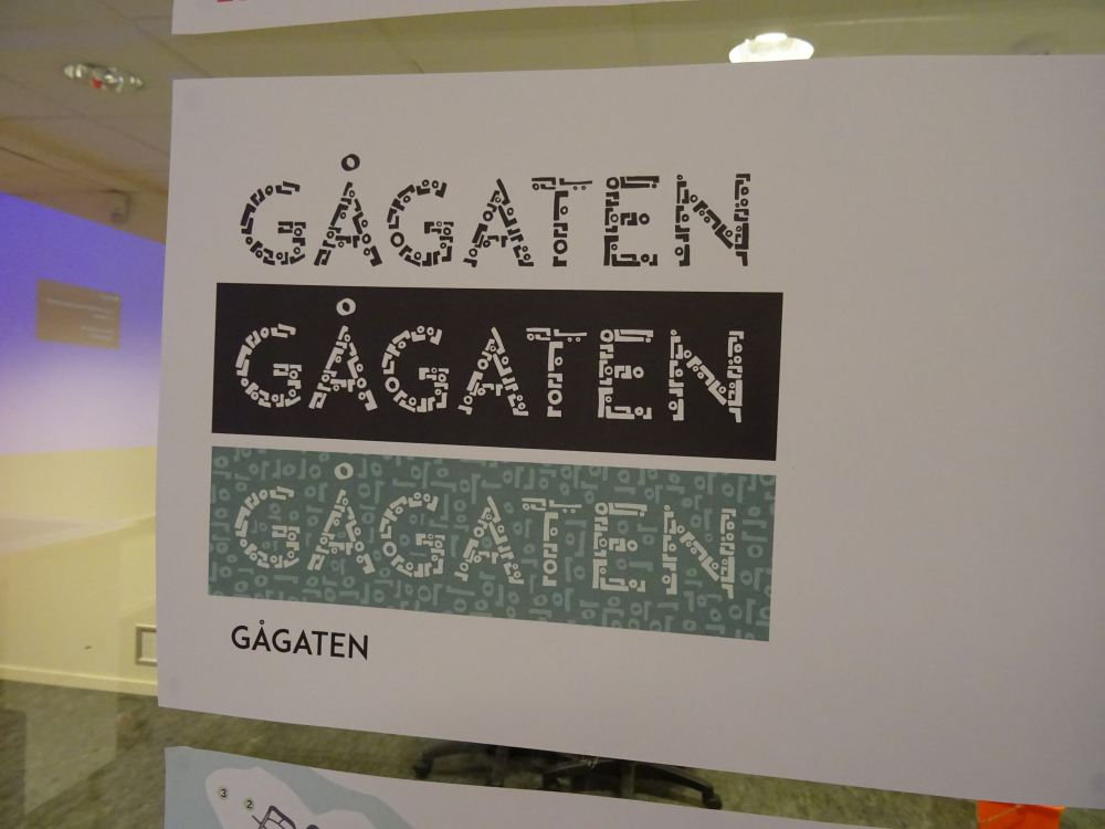 Her er logoen i forskjellige farger. Foto: Eva Johansen