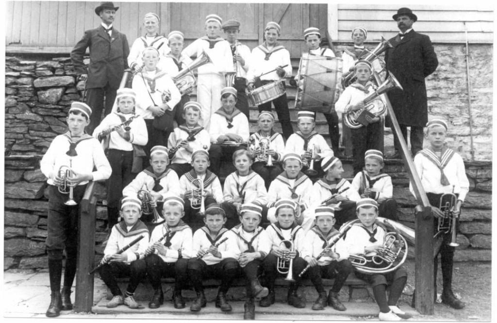 Fortunens Musikkorps i 1911. Foto: Fortunens Musikkorps