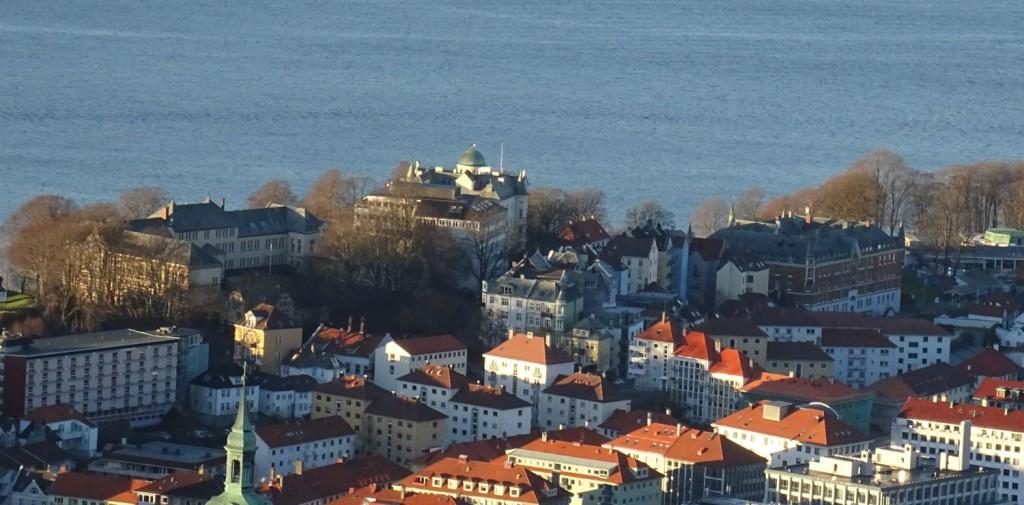 Nordnes skole ser du oppe til venstre. Foto: Eva Johansen