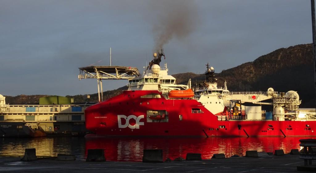 Skandi Skansen havnet et godt stykke ned på listen med 14 dager liggedøgn i Bergen havn i fjor. Foto: Eva Johansen