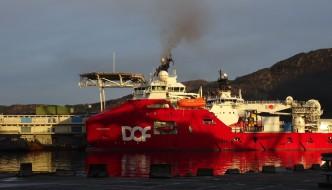 Hvilke skip lå lengst til kai i Bergen?