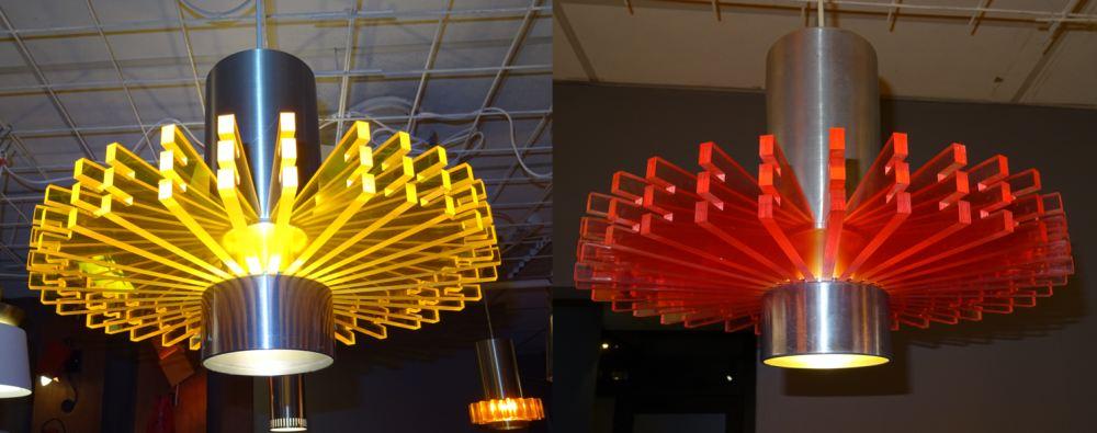 Her er lamper som Bolby har laget. Foto: Eva Johansen