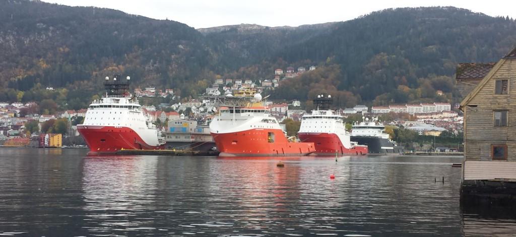 185 millioner er det som skal til for tilby landstrøm i hele Bergen havn. Foto: Eva Johansen