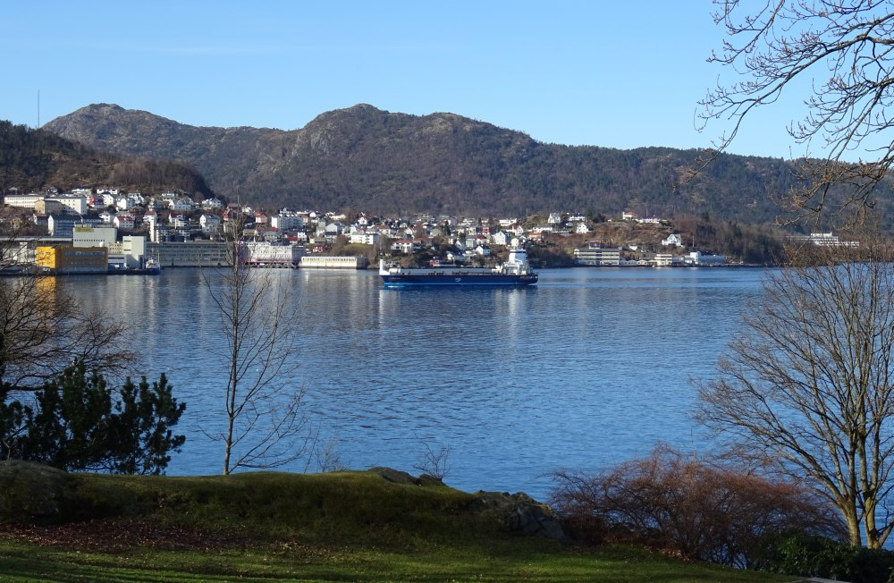 Den gjorde ikke så mye av seg, selv om dette er et historisk øyeblikk for Bergen. Foto: Eva Johansen