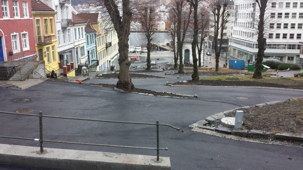 Slik er Østre Murallmenning blitt. Nå er arbeidet ferdig. Foto: Eva Johansen