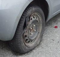 Dette hjulet er helt ødelagt. Foto: Eva Johansen