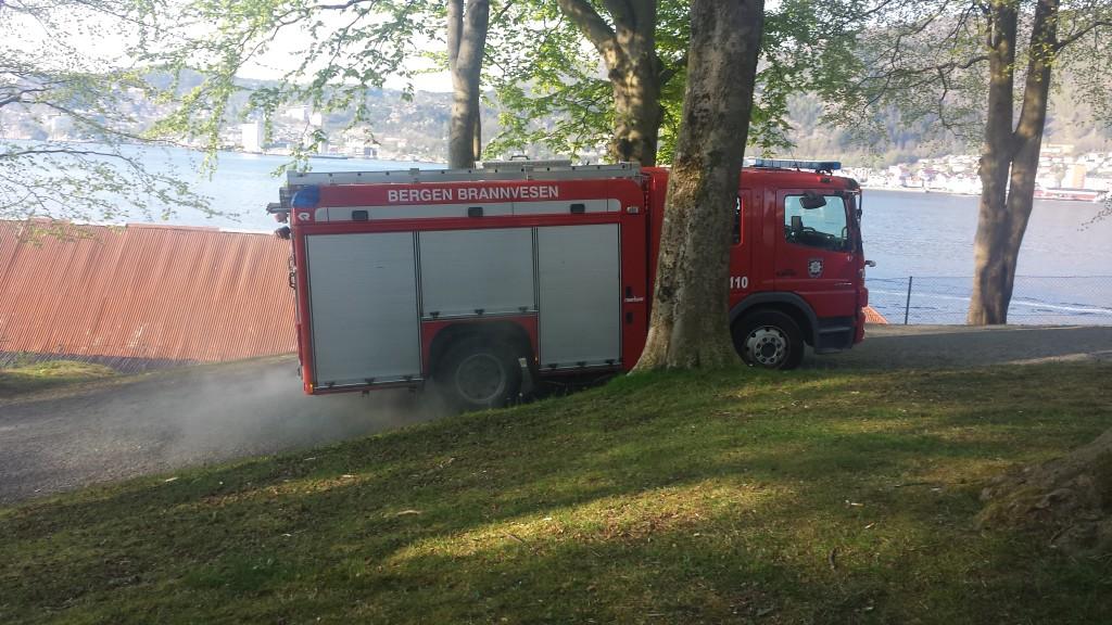 Brannbilen returnerte raskt. Foto: Eva Johansen