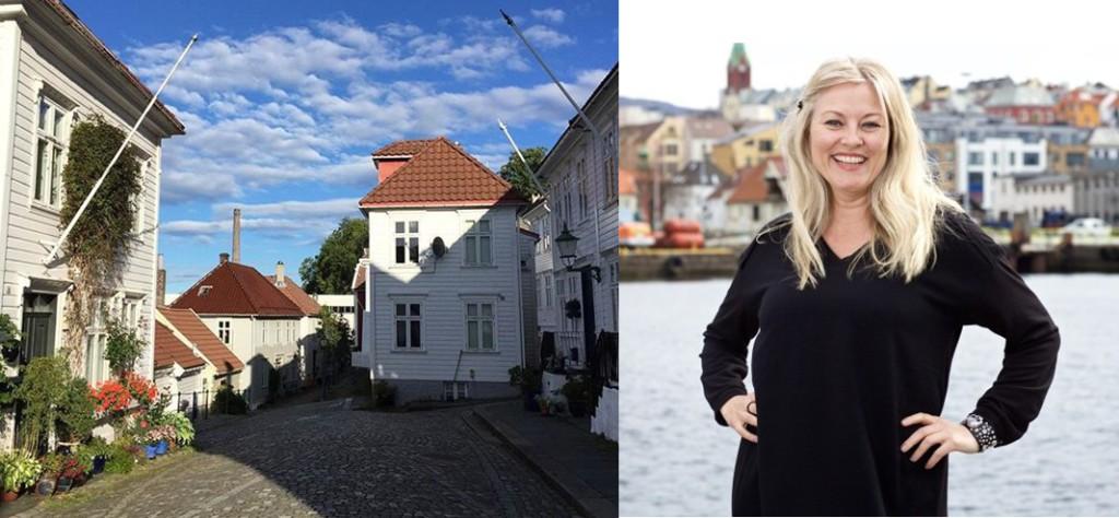 Det er ikke langt mellom STrangeplassen hvor Eli Kari Gjengedal bor og jobben i TV2. Foto: TV2/ Privat