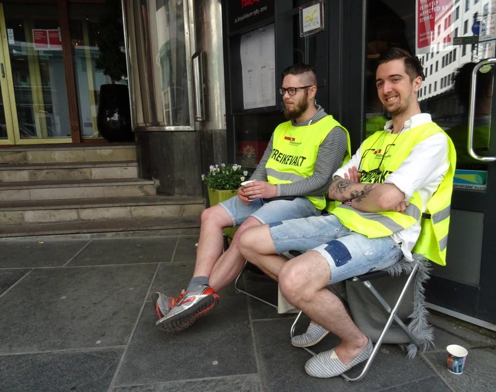 Streikevakter ved Scandic hotel Neptun: