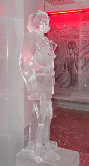 Edward Grieg overvåker hele lokalet. Foto: Eva Johansen