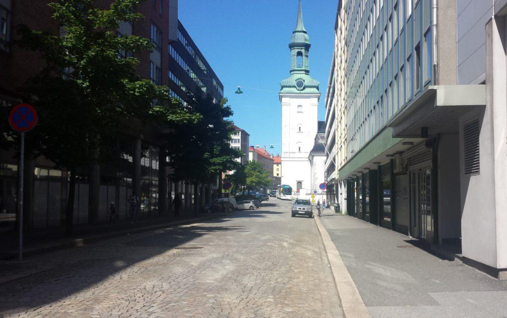 Graveklubbens største prosjekt noensinne blir det kommende i Strandgaten. Foto: Eva Johansen