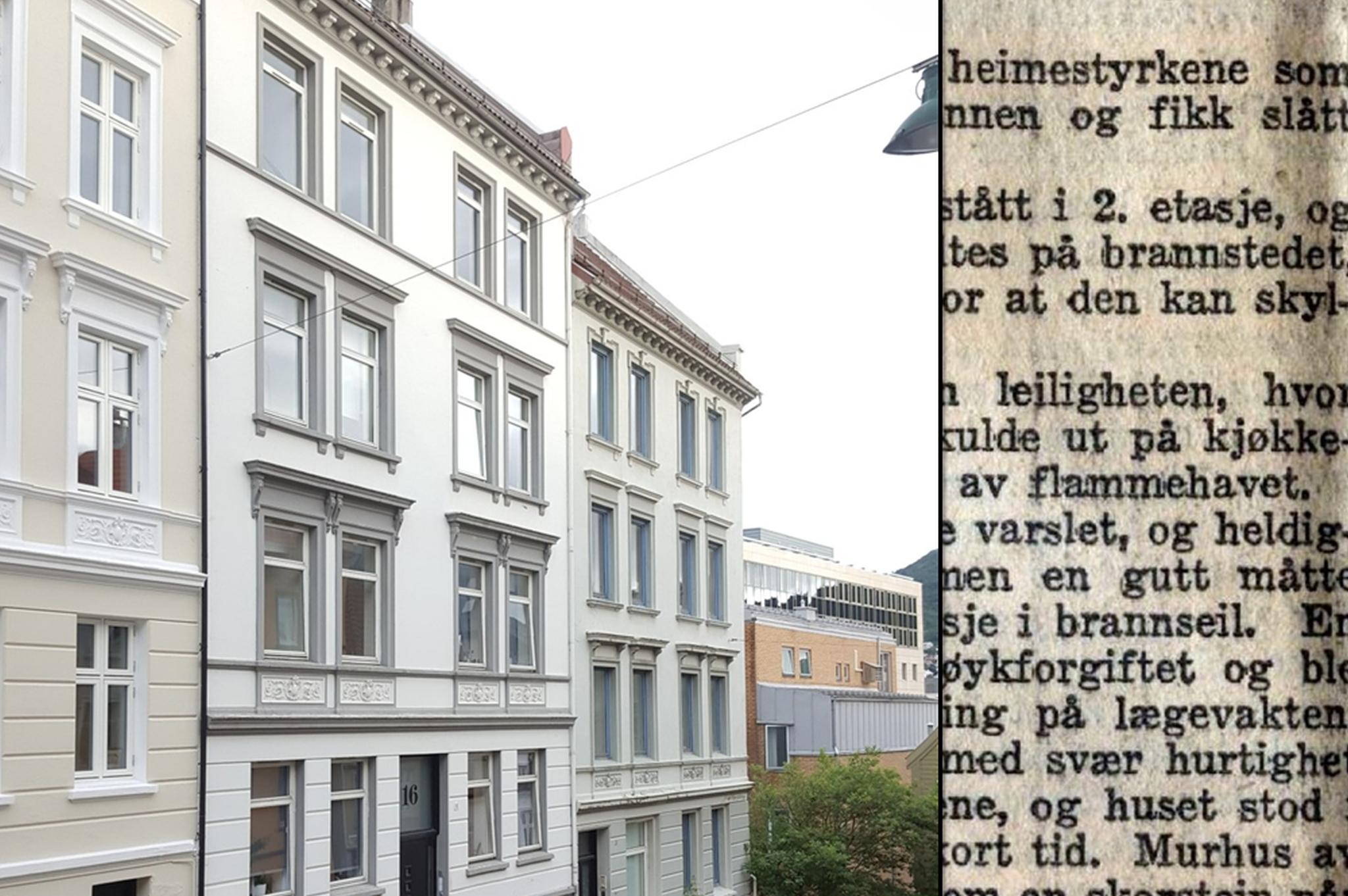 Godt holdt fasade preger i dag Holbergsallmenning 16. Foto: Eva Johansen