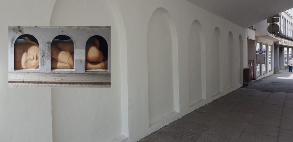 Den våknende babyen fylte veggen under Smørsbroen. Nå er den vekke. Foto: Eva Johansen