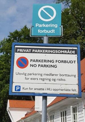 park_skilt