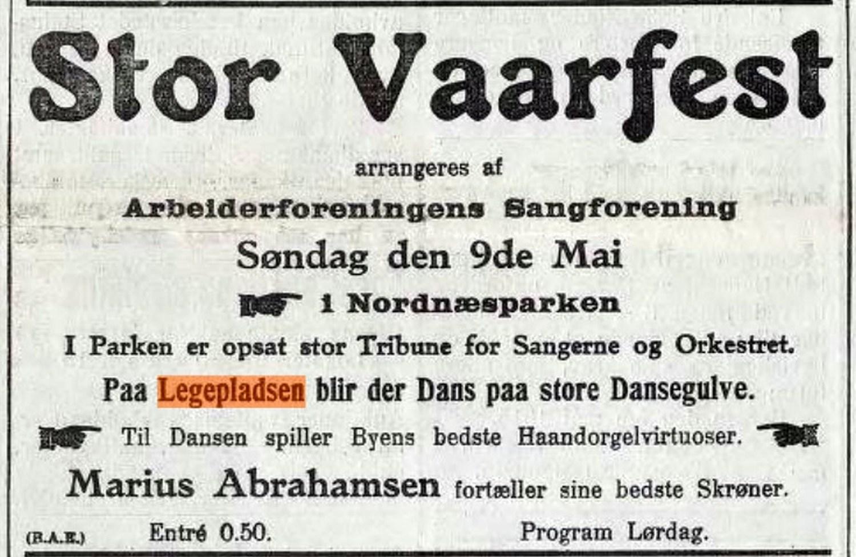 Dette var en annonse i BT 5. mai 1915.