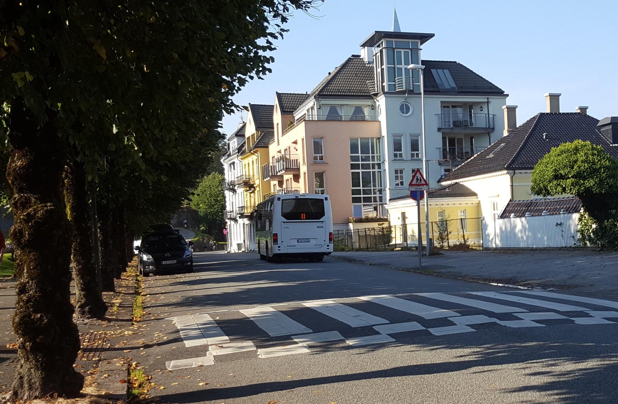 Buss 11 går til Nordnes. Foto: Eva Johansen