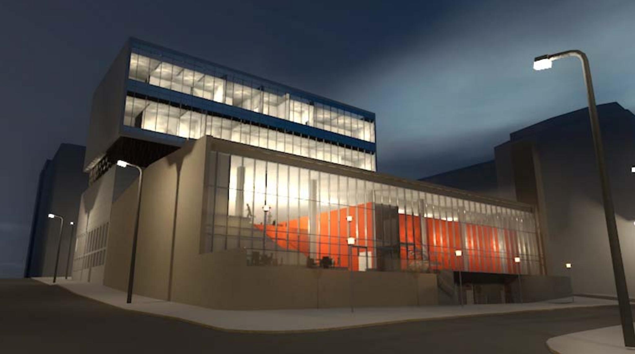 Her er skissetegninger av hvordan Scenekunsthuset kan bli. Foto: Rambøll AS