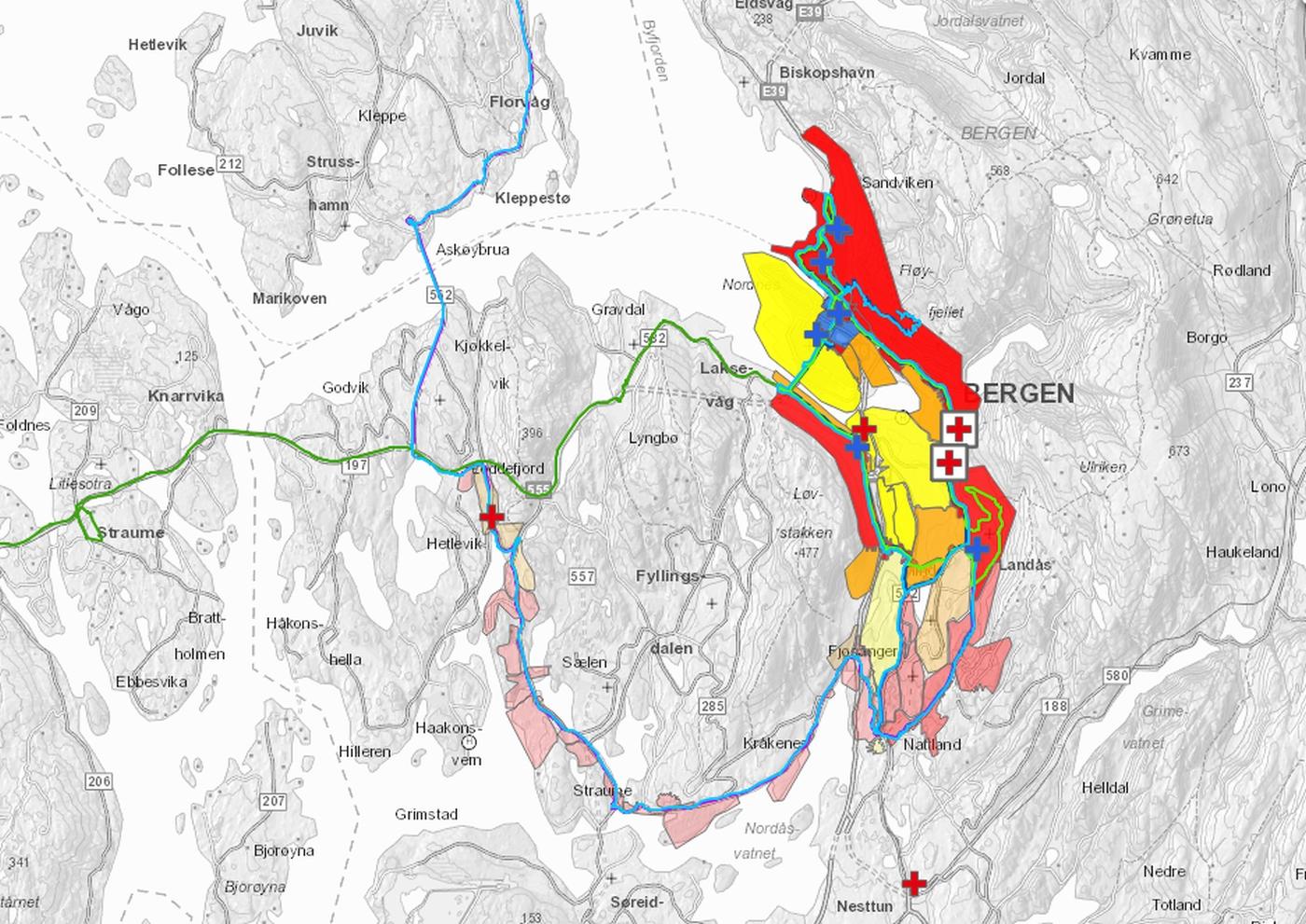 kart over stengte veier Slik påvirker sykkel VM Nordnes kart over stengte veier
