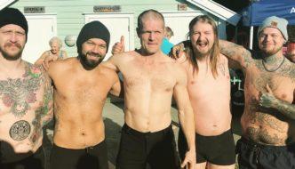 Iskald start på sesongen i Nordnes sjøbad