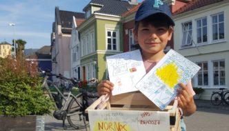 Ung forfatter med litteraturkiosk på Klosteret